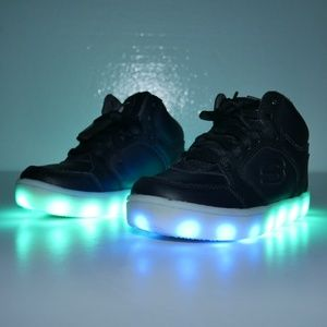 Skechers Energy Lights High Tops LED Light Up Shoe
